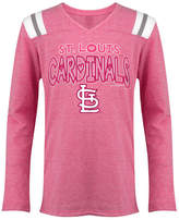 5th & Ocean St. Louis Cardinals Heart Pink Long Sleeve T-Shirt, Girls (4-16)