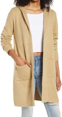 Vigoss Long Hooded Cardigan Sweater