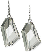 ABS by Allen Schwartz Earrings, Silver-Tone Glass Stone Drop Earrings