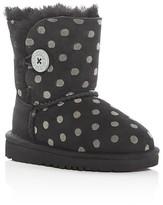 UGG Girls' Bailey Button Polka Dot Boots - Toddler