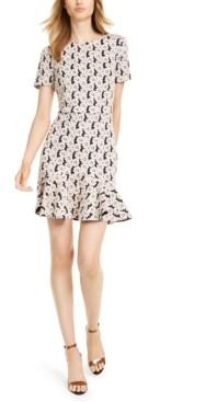 Trina Turk Trina Flounce-Hem A-Line Dress