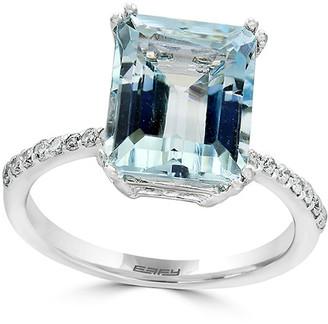 Effy Fine Jewelry 14K 4.06 Ct. Tw. Diamond & Aquamarine Ring