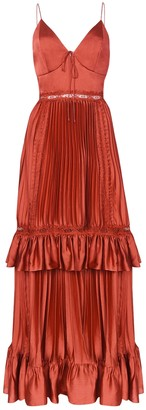 True Decadence Baked Rose Pleated Maxi Dress