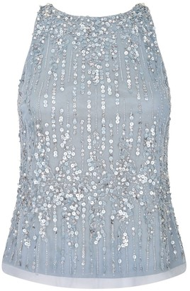Adrianna Papell Beaded Halter Top