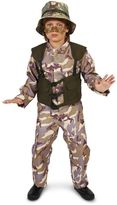Kids Army Delta Force with Hat Costume