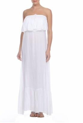 BOHO ME Strapless Lace Overlay Maxi Dress