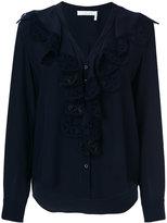 Chloé ruffled lace blouse