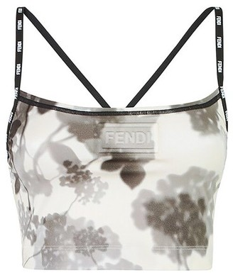 Fendi Grey Tech Fabric Top