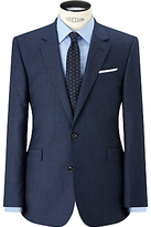 John Lewis Super 100s Wool Milled Birdseye Tailored Suit Jacket, Blue