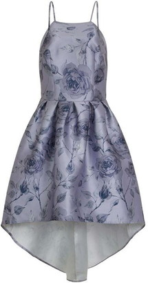 Chi Chi Digital Floral Print Dip Hem Dress