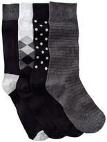 Happy Socks Combed Cotton Crew Socks - Pack of 4