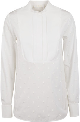 Chloé Round Collar Beaded Detail Shirt