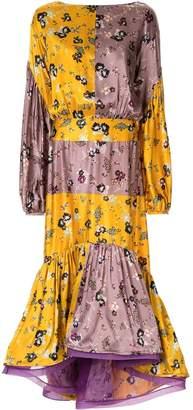 Silvia Tcherassi Dalit floral patchwork midi dress