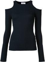 Frame cold-shoulder top - women - Cotton/Spandex/Elastane/Micromodal - M
