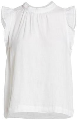 Bella Dahl Mockneck Ruffle-Sleeve Top