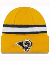 New Era Los Angeles Rams On-Field Color Rush Pom Knit