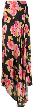 Essentiel Antwerp Floral Print Draped Skirt
