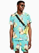TopmanTopman DUVIN DESIGN Mai Tai All Over Print Revere Shirt*