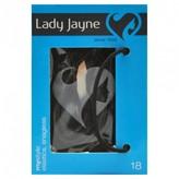 Lady Jayne Elastics, Snagless, Thin, Black 18 pack