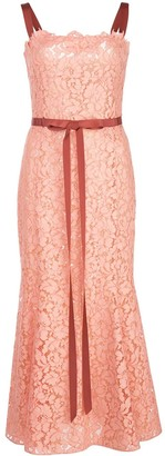 Oscar de la Renta Lace Fishtail Dress