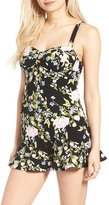 Leith Floral Print Bustier Top