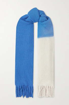 Isabel Marant Firna Fringed Ombre Alpaca-blend Scarf - Blue
