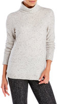 forte Cashmere Chunky Trim Turtleneck Sweater