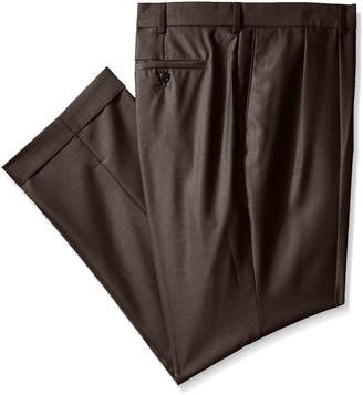Louis Raphael Men's Big-Tall Straight Fit Pleated Neat Tic Dress Pant