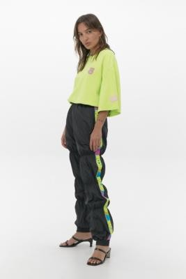 GCDS Taped Puffer Joggers - Black S at Urban Outfitters