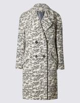 Marks and Spencer Wool Blend Animal Print Coat