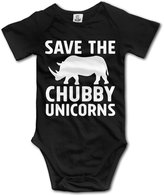 ADAB Infant Save The Chubby Unicorns Funny Cute Baby Onesie Bodysuit