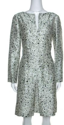 Tory Burch Multicolor Laceflower Print Silk Long Sleeve Dress L