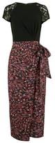Dorothy Perkins Womens Little Mistress Multi Colour Floral Print Short Sleeve Midi Dress, Multi Colour