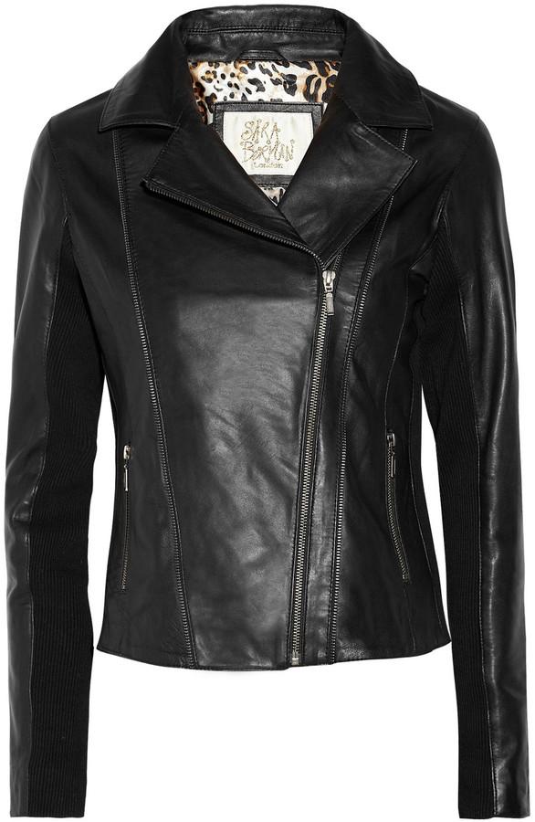 Sara Berman Rudy zip-detailed leather jacket