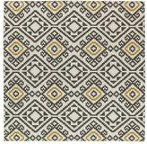 Tribeca Flatweave Grey Motif Square Wool Rug (8')