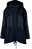 Roksanda Ilincic Navy-Multi Paneled Wool Oversized Jacket