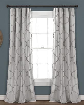 Triangle Home Fashion Avon Chenille Trellis Window Curtain Panels
