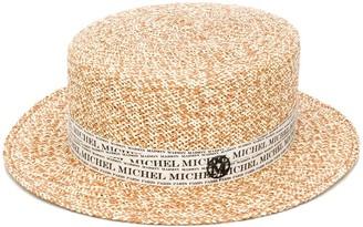 Maison Michel Logo Trim Hat