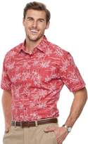 Haggar Big & Tall Classic-Fit Stretch Woven Casual Button-Down Shirt