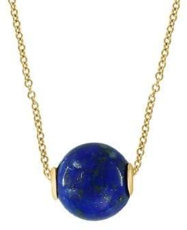 Effy 14K Yellow Gold & Lapis Lazuli Pendant Necklace