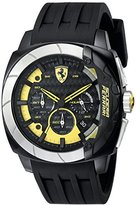 Ferrari Men's 830206 Aerodinamico Black Watchwith Silicone Strap