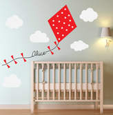 Oakdene Designs Personalised Kite And Clouds Wall Sticker