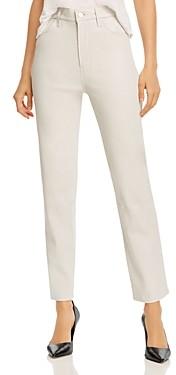J Brand Jules Straight-Leg Leather Jeans