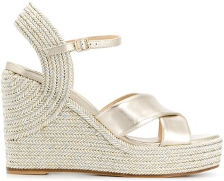Jimmy Choo Dellena 100mm espadrille wedges