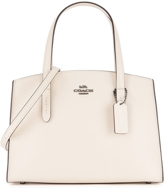 Coach Charlie Carryall 28 Off-white Leather Top Handle Bag