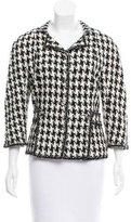 Chanel Silk Houndstooth Jacket