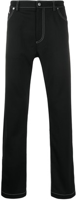 Palm Angels Zipped-Cuffs Straight Jeans