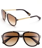 Marc Jacobs 56mm Aviator Sunglasses