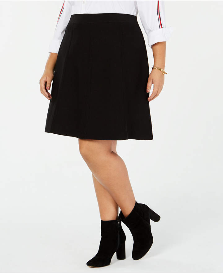Plus Size Sweater A-Line Skirt