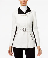 INC International Concepts Faux-Leather Contrast Moto Jacket, Only at Macy's